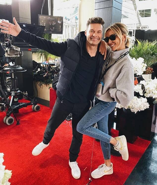 Ryan Seacrest, Giuliana Rancic, Pre Golden Globes 2020