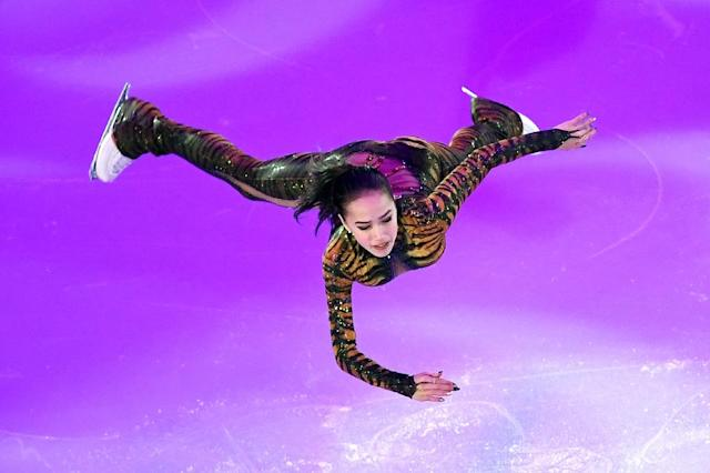 Russia's Alina Zagitova has lutzed and axeled her way into contention for Olympic women's figure skating gold after a breathtaking debut season on the senior circuit (AFP Photo/Yuri KADOBNOV)