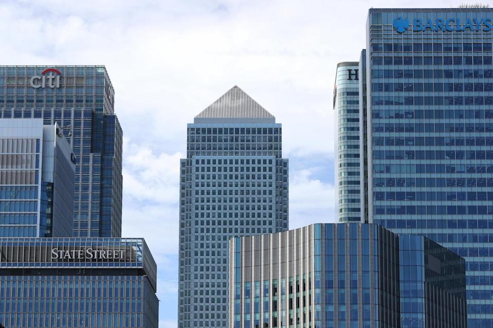 A general view of the Canary Wharf skyline (PA)