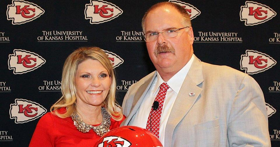 Chiefs Coach Andy Reid Calls Wife of Nearly 40 Years His Real 'Trophy' After Super Bowl Win