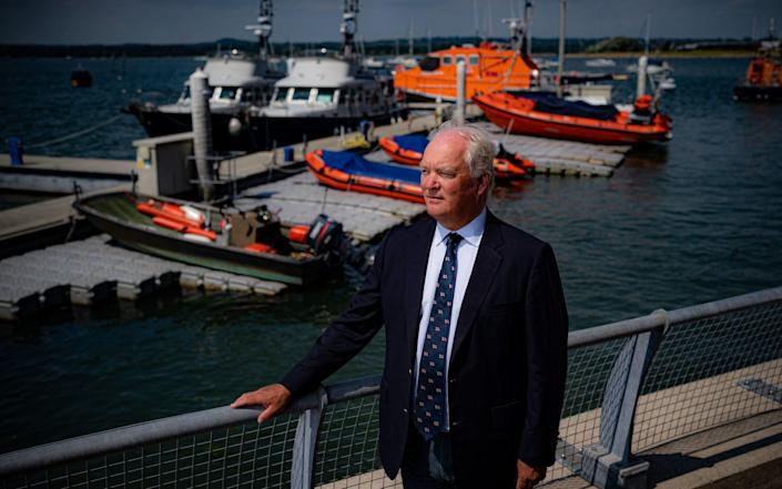 Mark Dowie at the RNLI College in Poole, Dorset - Ben Birchall/PA