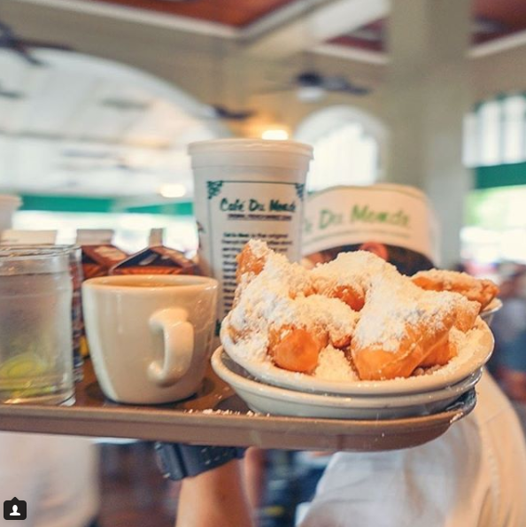 They've been serving the donut style dish, 24 hours a day, at Café du Monde for over 100 years. Source: VistNewOrleans/Instagram