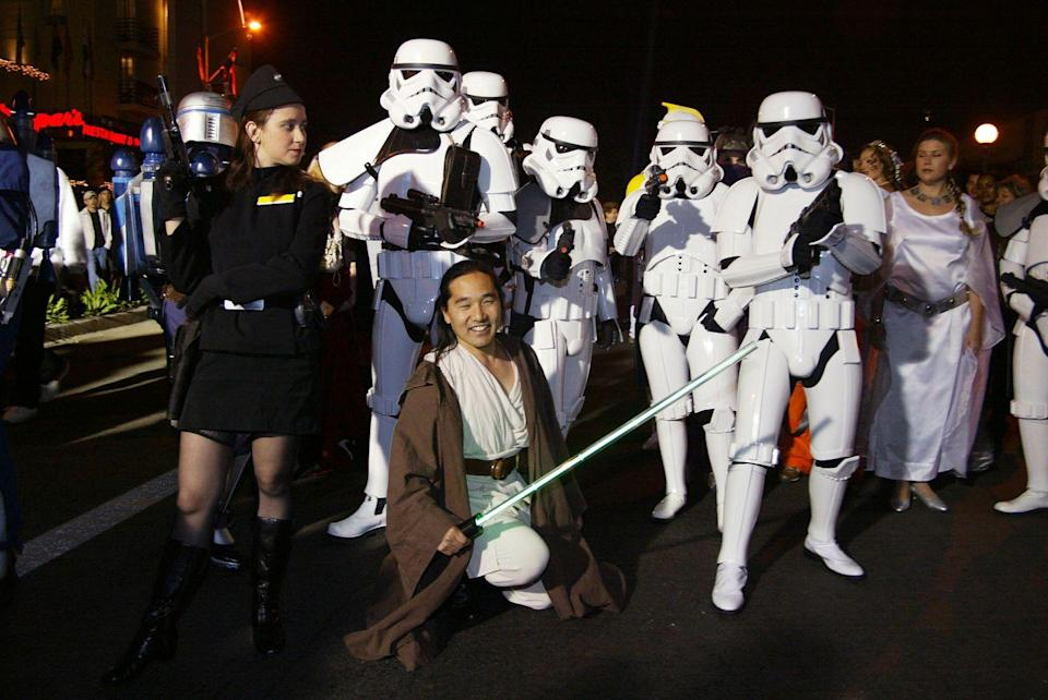 <p>Lightsabers are the go-to Halloween accessory this year. The popularity of <em>Star Wars</em> costumes reach a new peak this year thanks to the release of the <em>Star Wars: Episode III–Revenge of the Sith. </em></p>