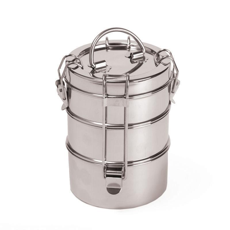 """<p><strong>Earth Hero</strong></p><p>earthhero.com</p><p><strong>$19.00</strong></p><p><a href=""""https://earthhero.com/products/travel/to-go-ware-3-tier-stainless-steel-tiffin-food-container/?gclid=EAIaIQobChMIrPqXjoeW6gIVUuWGCh0-7Ae7EAQYAiABEgKQEvD_BwE"""" rel=""""nofollow noopener"""" target=""""_blank"""" data-ylk=""""slk:BUY NOW"""" class=""""link rapid-noclick-resp"""">BUY NOW</a></p><p>Meal prep to-go containers, the massive pieces of plastic that they are, are fridge space hogs. This setup operates on the same concept as those containers (different components of the meal go in different sections), but stacks them vertically to save space. </p>"""