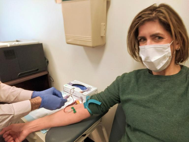 Diana Berrent was the first coronavirus survivor in New York state to get screened hoping to donate anti-body rich plasma