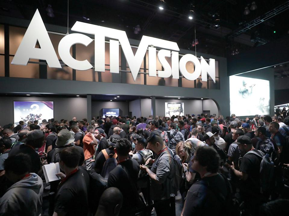A general view of atmosphere at the Activision booth during E3 2017 at the Los Angeles Convention Center on Tuesday, June 13, 2017, in Los Angeles.