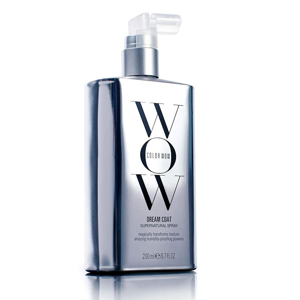<p>Make your hair shine like a disco ball with the <span>COLOR WOW Dream Coat Supernatural Spray</span> ($28). It's a humidity-proof, anti-frizz treatment.</p>