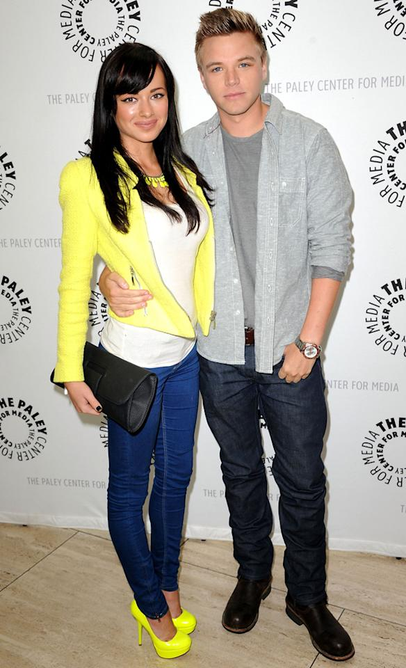 """Ashley Rickards and Brett Davern arrive at the Season 2 premiere screening of """"Awkward"""" at The Paley Center for Media on June 21, 2012 in Beverly Hills, California."""
