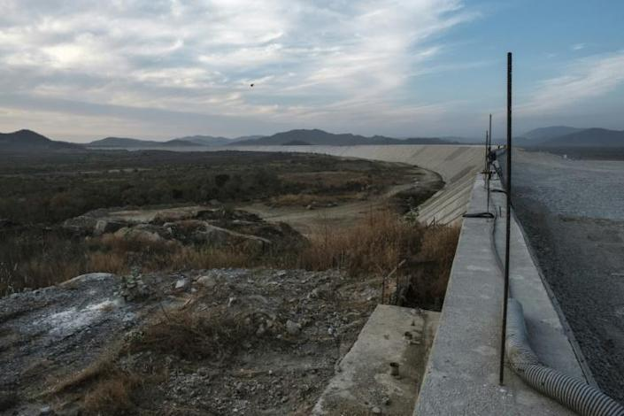 A general view in December 2019 of the Saddle Dam, part of the Grand Ethiopian Renaissance Dam mega-project that has triggered fears in Egypt (AFP Photo/EDUARDO SOTERAS)