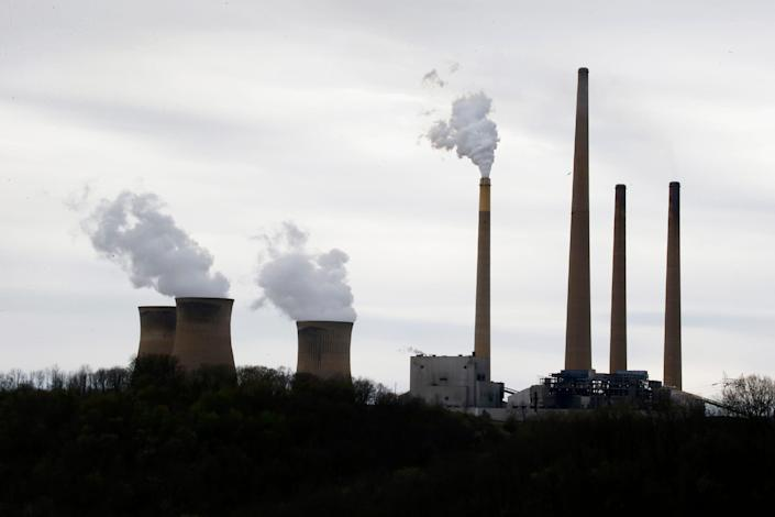 Coal-fired power plants such as the Homer City Generating Station in Pennsylvania emit carbon dioxide and other greenhouse gases that contribute to global warming.