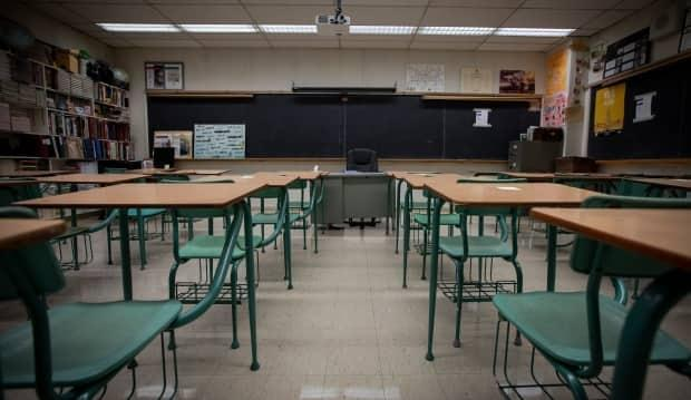 A COVID-19 outbreak has been declared at St. John Vianney Catholic Elementary School. (Evan Mitsui/CBC - image credit)