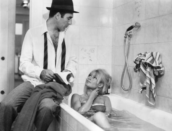 Making a splash: Piccoli with Brigitte Bardot in Jean-Luc Godard's 'Contempt' (Getty)