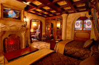 <p>Another hidden spot? The Cinderella suite, which sits in Cinderella's castle in the Magic Kingdom. The suite is adorned with 17th-century furniture, a Cinderella-themed mosaic floor, a clock that always shows the time as 11:59, a Jacuzzi tub, and a working fireplace. Only a lucky few get to stay here though—you have to be invited or win a contest. </p>