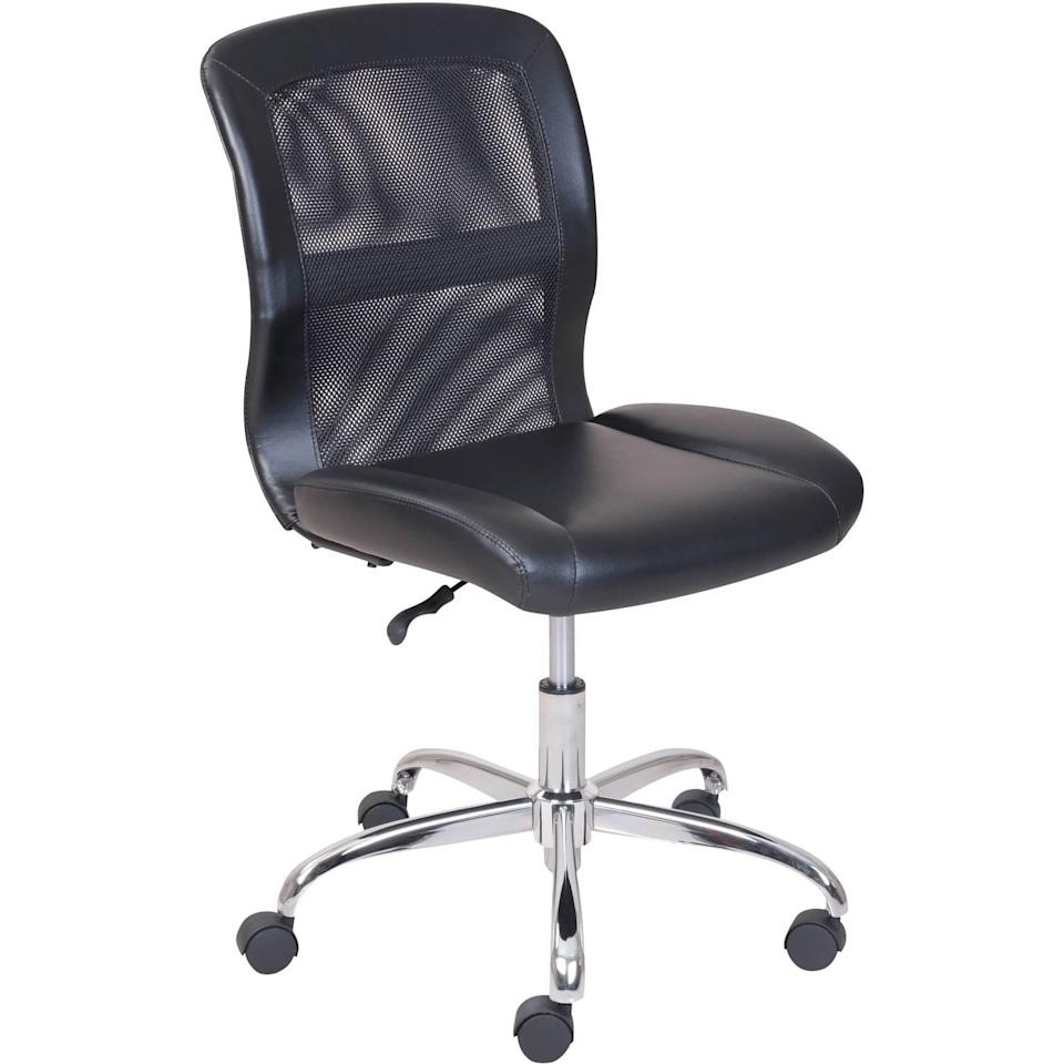 <p>From gaming to zooming, the <span>Mainstays Vinyl and Mesh Task Office Chair</span> ($49, originally $54) is a comfortable and sleek option.</p>
