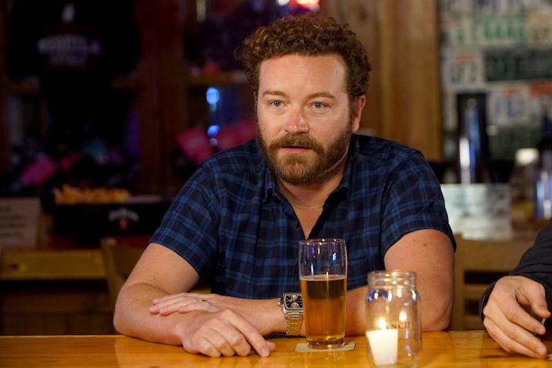 "Danny Masterson speaks to the press during a launch event for Netflix's ""The Ranch: Part 3"" on June 7 in Nashville. Four women have accused Masterson of rape. (Anna Webber/Getty Images for Netflix)"