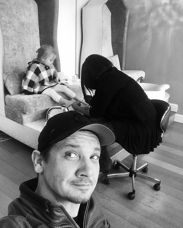 "<p>It wasn't her birthday, but <a href=""https://www.yahoo.com/celebrity/jeremy-renner-treats-daughter-and-her-friends-to-spa-day-and-tea-party-then-goes-to-his-workshop-to-hit-things-004430834.html"" data-ylk=""slk:Jeremy Renner treated Ava and her friends to a spa day;outcm:mb_qualified_link;_E:mb_qualified_link"" class=""link rapid-noclick-resp newsroom-embed-article"">Jeremy Renner treated Ava and her friends to a spa day</a> in January when she was 3. Dad, who did not partake (though he seems like a guy who enjoys some pampering), photobombed the fashionable kid (that coat!) as someone tended to her toesies. That was followed up with a real tea party with china because she's learning early about sophistication. (Photo: Jeremy Renner via <a href=""https://www.instagram.com/p/BO55fbUF2bi/?taken-by=renner4real&hl=en"" rel=""nofollow noopener"" target=""_blank"" data-ylk=""slk:Instagram"" class=""link rapid-noclick-resp"">Instagram</a>) </p>"