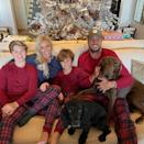 <p>The country star looked ready for some serious Christmas downtime in his matching fam jams. </p>
