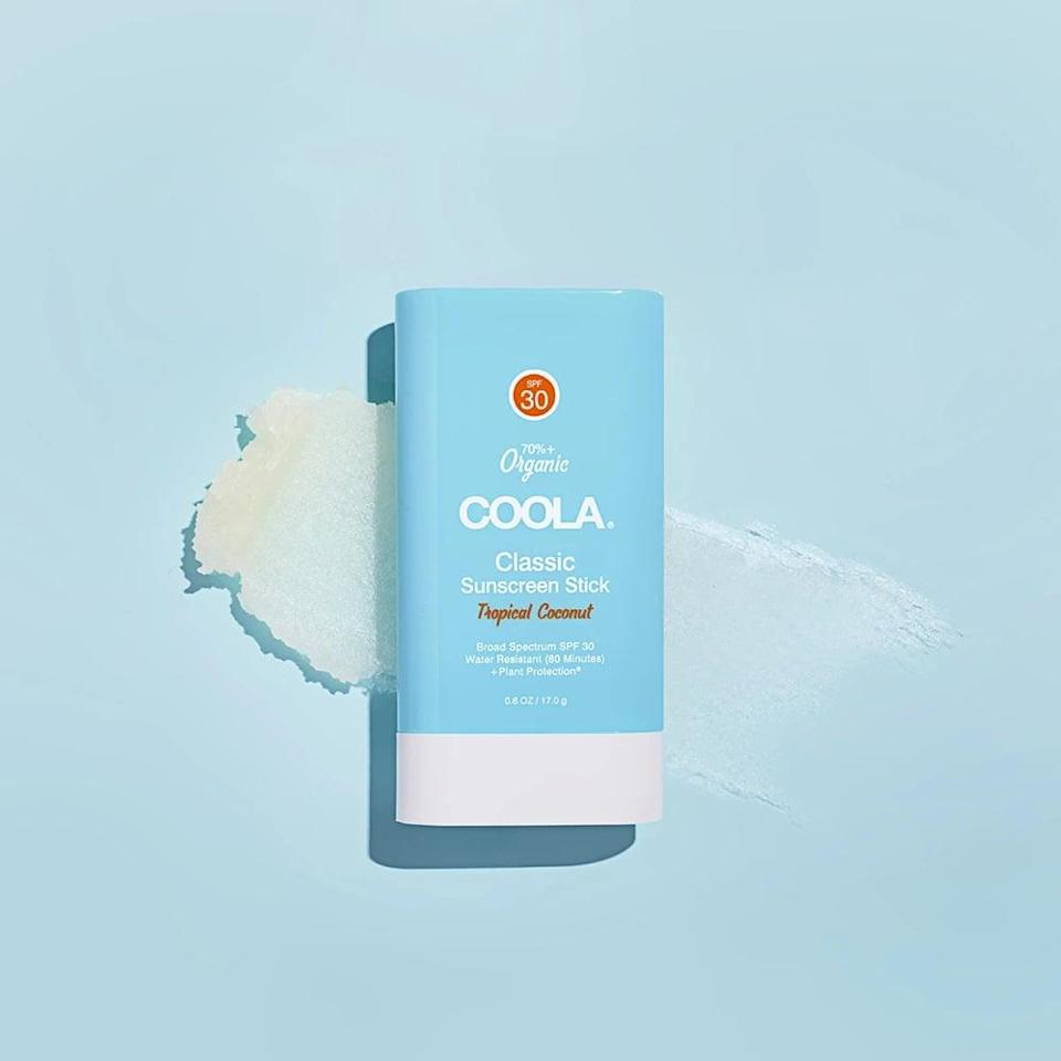 <p>For a mess-free application that won't ruin the inside of your bag, the <span>COOLA Organic Classic Sunscreen Face &amp; Body Stick - SPF 30 -Tropical Coconut</span> ($18) is a must. It's a clean formula that provides a sheer, non-greasy application.</p>
