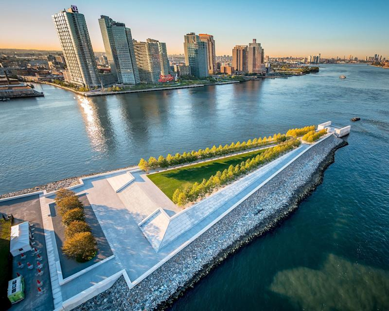 The Four Freedoms Park, which opened in 2012, is located on the southern tip of Roosevelt Island in New York City.  (Photo: Four Freedoms Park Conservancy )