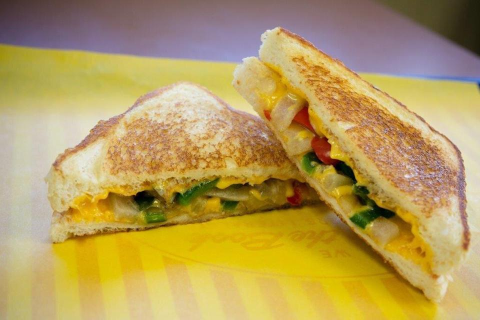 Whataburger Grilled Cheese with Grilled Vegetables