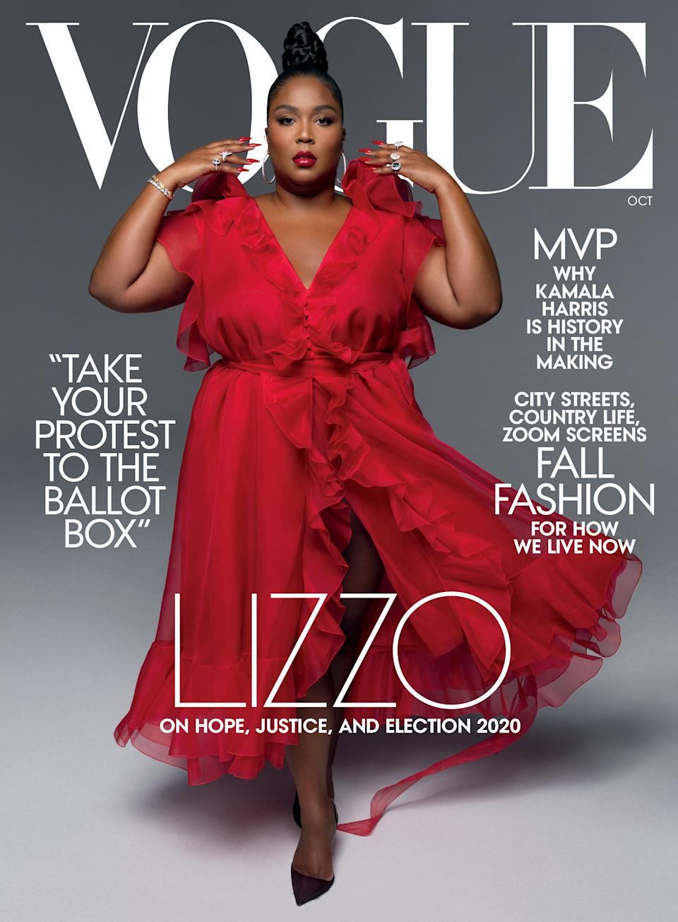 Lizzo's whole body covers Vogue's October issue.  (Photo: Hype Williams )