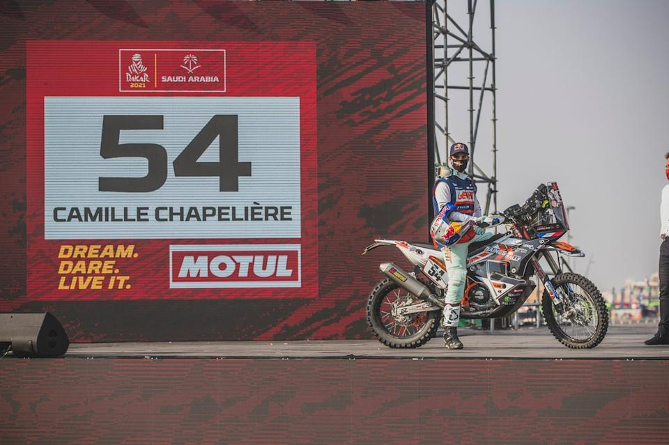 """#54 Team Baines Rally KTM: Camille Chapeliere<span class=""""copyright"""">Red Bull Content Pool</span>"""