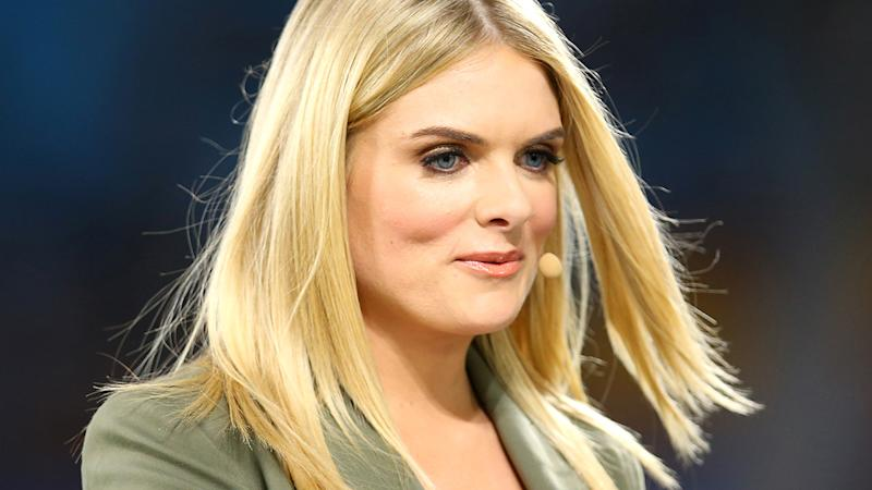 Erin Molan, pictured here in commentary during the the Indigenous All-Stars match in 2020.