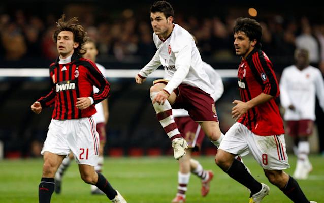 Arsenal have been drawn to face Italian side AC Milan in the Europa League last 16. Arsenal suffered the embarrassment of losing 2-1 at home to Swedish side Ostersund in the second leg of their first knockout round match on Thursday night, but progressed 4-2 on aggregate. They will now take on Milan, a team with great continental pedigree. The Rossoneri have won the European Cup and Champions League seven times but have struggled in recent years, and are currently seventh in Serie A. Arsenal and Milan last met in 2012, when the Italians advanced to the Champions League quarter-final with a 4-3 aggregate win. Milan won the first leg 4-0 at San Siro before Arsenal won the return 3-0 to fall agonisingly short of a miraculous comeback. The first leg of this year's Europa League last-16 tie will be played on Thursday March 8 at San Siro, with the return a week later on March 15 at the Emirates. Kick-off times for the two matches will be confirmed on Friday afternoon. The Europa League draw threw up a heavyweight clash in AC Milan v Arsenal Credit: Uefa Three-time Champions League winner Eric Abidal made the draw and said that the AC Milan v Arsenal match-up was the pick of the last 16 ties. The draw in full was: Lazio v Dynamo Kiev RB Leipzig v Zenit St Petersburg Atletico Madrid v Lokomotiv Moscow CSKA Moscow v Olympique Lyonnais Olympique de Marseille v Athletic Bilbao Sporting Lisbon v Viktoria Plzen Borussia Dortmund v FC Salzburg AC Milan v Arsenal The final in Lyon will be played on May 16. 12:23PM History repeated Arsenal and AC Milan have enjoyed a couple of thrilling knockout ties in the last decade. First there was 2008 when Arsenal knocked out the Champions League holders with a 2-0 last-16 win at San Siro before Milan exacted revenge with a 4-3 aggregate win at the same stage four years later. In that 2012 meeting, Milan won the first leg 4-0 before Arsenal so nearly pulled off a miracle comeback by winning the second leg 3-0. The first leg of this Europa Lea