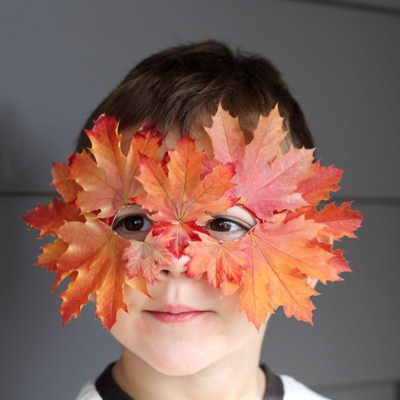 """<p>Celebrate the season by crafting this mask made from real, fallen leaves. </p><p><strong>Get the tutorial at <a href=""""http://www.smallfriendly.com/small-friendly/2013/11/diy-leaf-mask.html"""" rel=""""nofollow noopener"""" target=""""_blank"""" data-ylk=""""slk:Small and Friendly"""" class=""""link rapid-noclick-resp"""">Small and Friendly</a>.</strong></p>"""