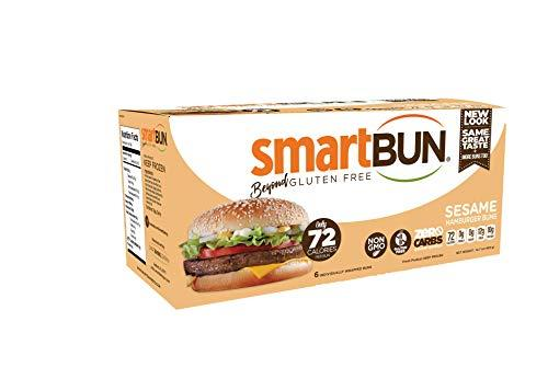 """<p><strong>SmartBUN</strong></p><p>amazon.com</p><p><strong>$38.97</strong></p><p><a href=""""http://www.amazon.com/dp/B01CMZC6IO/?tag=syn-yahoo-20&ascsubtag=%5Bartid%7C2139.g.28181704%5Bsrc%7Cyahoo-us"""" target=""""_blank"""">BUY IT HERE</a></p><p>This gluten-free, starch-free burger bun is studded with sesame seeds so it certainly doesn't look like many sad low-carb options. Each bun has 72 calories and 16 grams of carbohydrate, a whopping 12 of which are fiber. One caveat: Instead of sugar, the SmartBun contains erythritol, a sugar alcohol.</p>"""