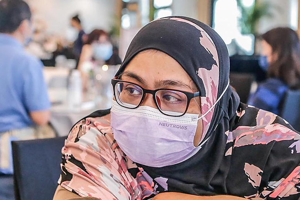 FGV Holdings Berhad group strategic communications senior manager Dalilah Ibrahim speaks to Malay Mail at Xiao En Centre in Cheras, Kuala Lumpur May 15, 2021. ― Picture by Hari Anggara