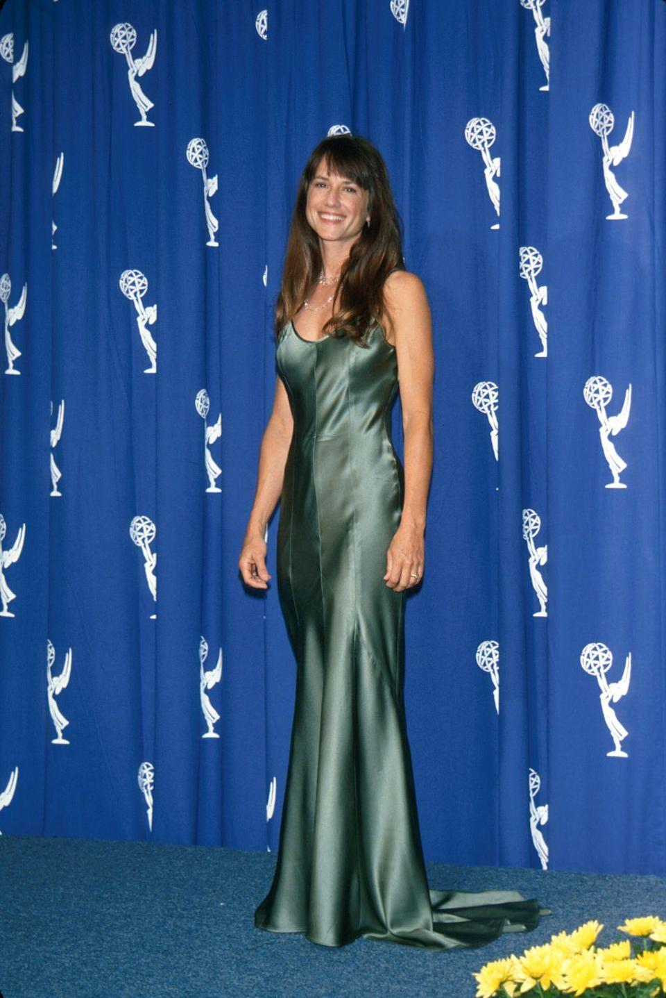 <p>Speaking of mermaid-esque looks, there was also this sea-green gown Hunter wore to the '94 awards. Complete with her wavy effortless hair and silver jewelry, it was so memorable. </p>
