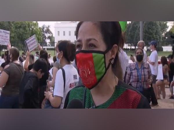 Over 1,000 people gathered outside the White Houseurging support for Afghans as evacuation nears the end. (Photo Credit - NHK World)