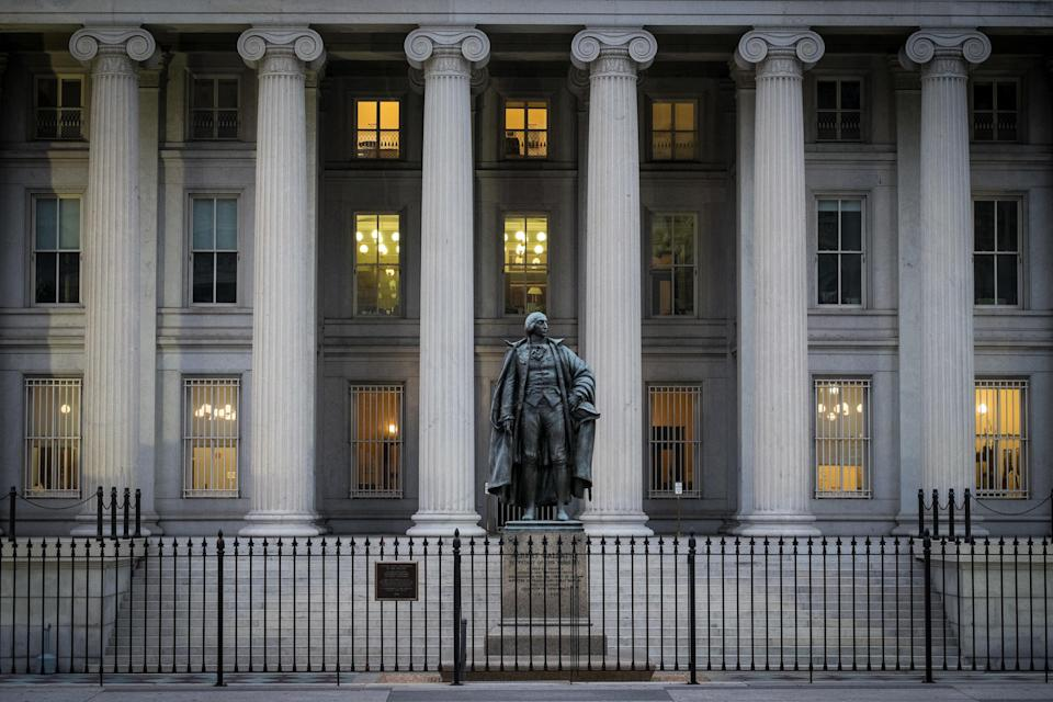 The U.S. Treasury Building in Washington. (AP Photo/J. David Ake, File)