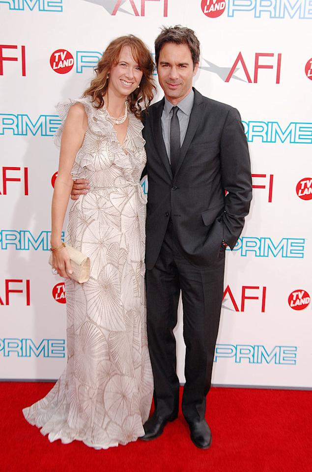 "<a href=""http://movies.yahoo.com/movie/contributor/1800021883"">Eric McCormack</a> and Janet Holden at the 37th Annual AFI Lifetime Achievement Awards - 6/11/2009"
