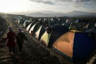 Thousands of migrants are stranded on the Greece-Macedonia border hoping to reach northern Europe