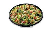 """<p>You can pretty much turn any one of your fav sandwiches into a salad at Subway; although most options appear to be healthy, the chicken & bacon ranch melt salad contains 32 grams of fat and 900 mg of sodium — this reflects the meat/poultry, and standard vegetables, <strong>but not the salad-dressing or croutons.</strong> Honourable mention: The Spicy Italian salad has less fat (23 g) but packs the most sodium out of all their salads (1,270 mg).<br><br><strong>Serving size: 403 g</strong><br> — Calories: 440<br> — Fat: 32 g (Saturated Fat 8 g)<br> — Carbohydrates: 14 g<br> — Sodium: 900 mg<br> — Sugar: 9 g<br> — Protein: 22 g<br> — Source/Photo: <a href=""""http://www.subway.com/en-ca/menunutrition/nutrition"""" rel=""""nofollow noopener"""" target=""""_blank"""" data-ylk=""""slk:Subway Canada"""" class=""""link rapid-noclick-resp"""">Subway Canada<br></a><br><strong>TRY THIS INSTEAD:</strong> Subway oven roasted chicken salad (Fat: 2.5 g/Sat. Fat 0.5 g/Sodium: 250 mg) </p>"""