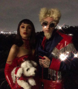 """<p>""""Relax Derek,"""" the pop singer captioned this shot with Mac Miller as Mugatu and Katinka, the roles played by Will Ferrell and Milla Jovovich, from <i>Zoolander</i>. Too good. (Photo: <a rel=""""nofollow noopener"""" href=""""https://www.instagram.com/p/Ba8BpMinGEY/?hl=en&taken-by=arianagrande"""" target=""""_blank"""" data-ylk=""""slk:Ariana Grande via Instagram"""" class=""""link rapid-noclick-resp"""">Ariana Grande via Instagram</a>) </p>"""