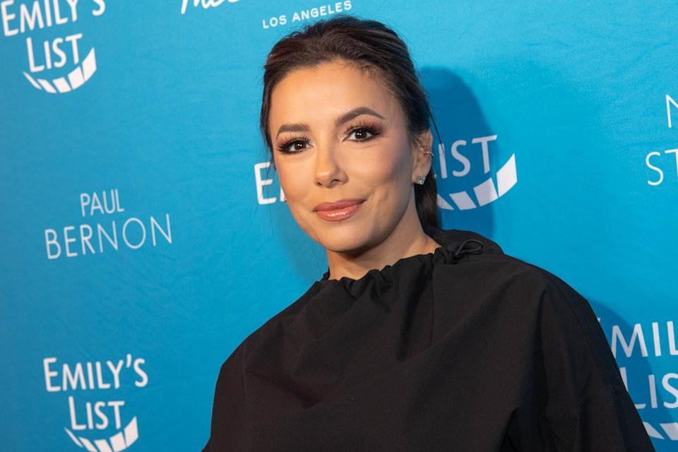 Eva Longoria shared her latest workout routine with fans — and they're loving her Reebok x Victoria Beckham gear. (Photo by Emma McIntyre/WireImage)