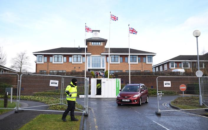 Kents Hill Park Training and Conference Centre in Milton Keynes where Coronavirus evacuees were released from quarantine today and allowed to go home on Sunday - Joe Giddons