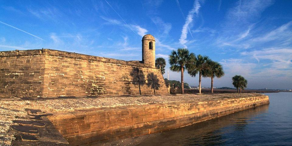 """<p><strong>Best for Historic Florida </strong></p><p>St. Augustine, on <a href=""""https://www.bestproducts.com/fun-things-to-do/g2471/amazing-beaches-in-florida/"""" rel=""""nofollow noopener"""" target=""""_blank"""" data-ylk=""""slk:Florida's"""" class=""""link rapid-noclick-resp"""">Florida's</a> northeast coast, is said to be the oldest city in the United States. Originally settled in 1565 by the Spanish, you'll still find Spanish colonial buildings, the 17th-century <a href=""""https://go.redirectingat.com?id=74968X1596630&url=https%3A%2F%2Fwww.tripadvisor.com%2FAttraction_Review-g34599-d108572-Reviews-Castillo_de_San_Marcos-St_Augustine_Florida.html&sref=https%3A%2F%2Fwww.countryliving.com%2Flife%2Fg37186621%2Fbest-places-to-experience-and-visit-in-the-usa%2F"""" rel=""""nofollow noopener"""" target=""""_blank"""" data-ylk=""""slk:Castillo de San Marcos"""" class=""""link rapid-noclick-resp"""">Castillo de San Marcos</a>, and cobbled, shop-lined streets. Plus, St. Augustine Beach is a 10-mile beauty where you can park right on the sand. </p><p><strong><em>Where to Stay: </em></strong><a href=""""https://go.redirectingat.com?id=74968X1596630&url=https%3A%2F%2Fwww.tripadvisor.com%2FHotel_Review-g34599-d11717369-Reviews-The_Collector_Luxury_Inn_Gardens-St_Augustine_Florida.html&sref=https%3A%2F%2Fwww.countryliving.com%2Flife%2Fg37186621%2Fbest-places-to-experience-and-visit-in-the-usa%2F"""" rel=""""nofollow noopener"""" target=""""_blank"""" data-ylk=""""slk:The Collector Luxury Inn & Gardens"""" class=""""link rapid-noclick-resp"""">The Collector Luxury Inn & Gardens</a>, <a href=""""https://go.redirectingat.com?id=74968X1596630&url=https%3A%2F%2Fwww.tripadvisor.com%2FHotel_Review-g34599-d85724-Reviews-Casa_Monica_Resort_Spa_Autograph_Collection-St_Augustine_Florida.html&sref=https%3A%2F%2Fwww.countryliving.com%2Flife%2Fg37186621%2Fbest-places-to-experience-and-visit-in-the-usa%2F"""" rel=""""nofollow noopener"""" target=""""_blank"""" data-ylk=""""slk:Casa Monica Resort & Spa"""" class=""""link rapid-noclick-resp"""">Casa Monica Resort & Spa</a></p>"""