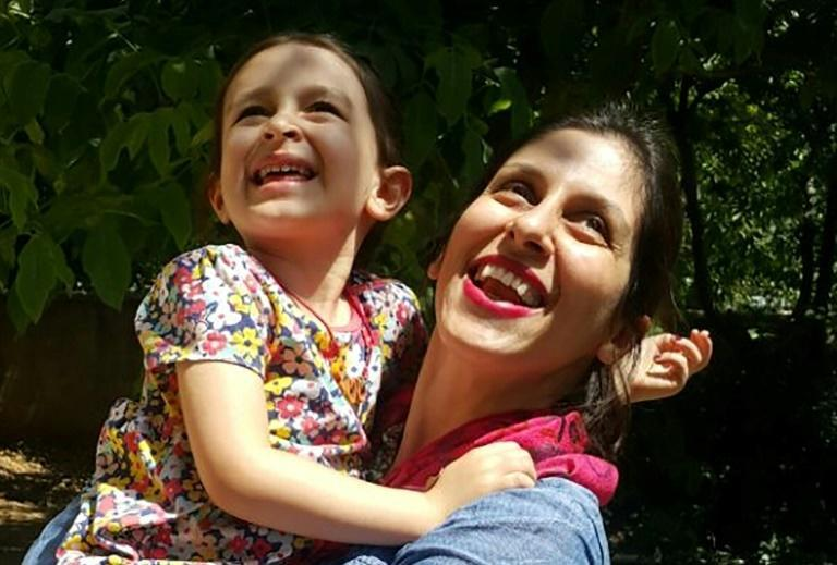 Nazanin Zaghari-Ratcliffe and her daughter Gabriella, pictured here in a file photo taken on August 23, 2018