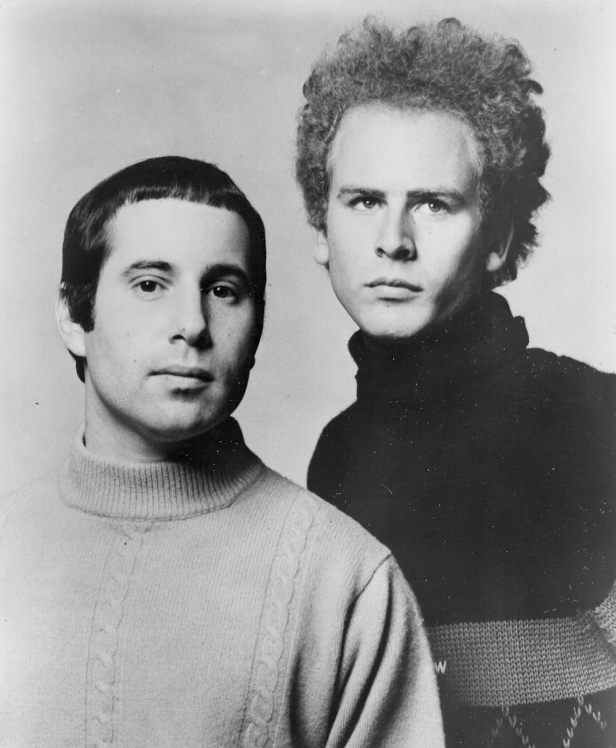 Garfunkel, with Paul Simon in an almost-turtleneck, in a Columbia Records publicity still, circa 1967.