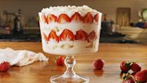 """<p>Not only does this cake taste like champagne, it also has champagne-infused whipped cream!</p><p><em>Get the recipe from <a href=""""https://www.delish.com/cooking/recipe-ideas/a22345224/strawberry-champagne-trifle-recipe/"""" rel=""""nofollow noopener"""" target=""""_blank"""" data-ylk=""""slk:Delish"""" class=""""link rapid-noclick-resp"""">Delish</a>.</em></p>"""