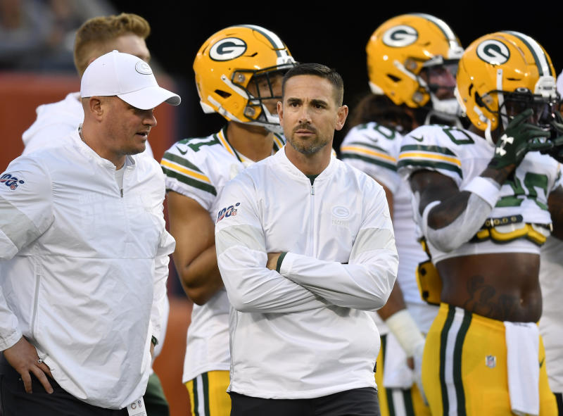 Matt LaFleur's hopeless challenge against the Bears is the type of play critics of the pass interference replay rule have in their crosshairs. (Reuters)
