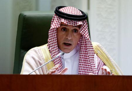Saudi Arabia's Foreign Minister Adel bin Ahmed Al-Jubeir speaks during a news conference at the Ministry of Foreign Affairs in Riyadh