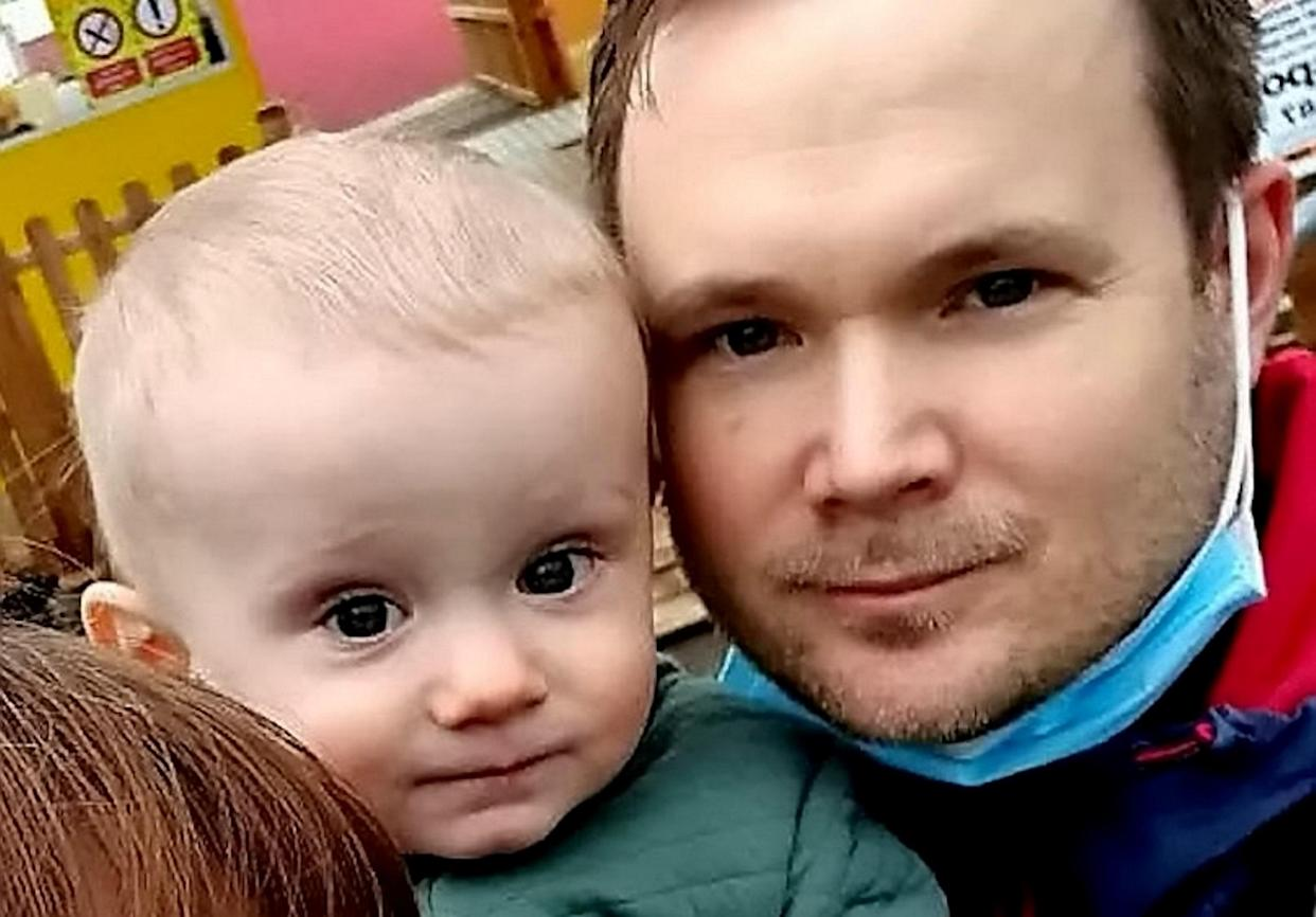 Joshua Hoyle alongside his father Andy. (SWNS)
