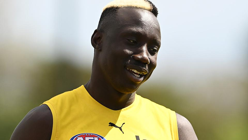 Mabior Chol has signed with the Gold Coast Suns, after five seasons with the Richmond Tigers. (Photo by Quinn Rooney/Getty Images)