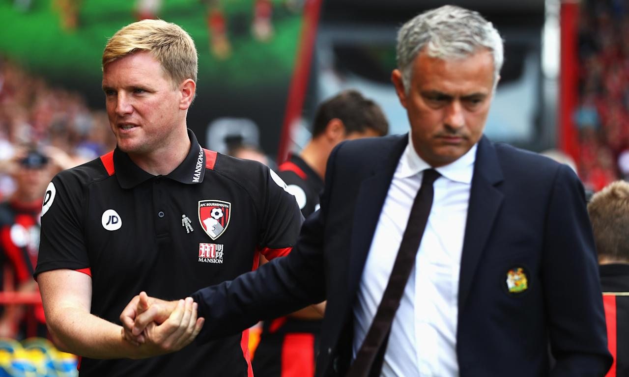 Bournemouth's Eddie Howe is among the managers who generally keep a smile on their face while their sides overachieve, while José Mourinho was ludicrously accused of increasing the pressure on Everton by Ronald Koeman.