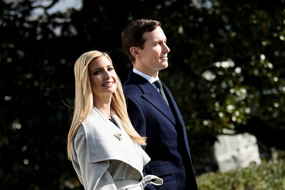 Ivanka Trump and Jared Kushner, pictured in November, have been spotted in Florida. (Photo: Brendan SmialowskiAFP/Getty Images)